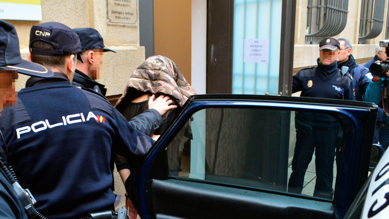 Momento de la detención de la mujer
