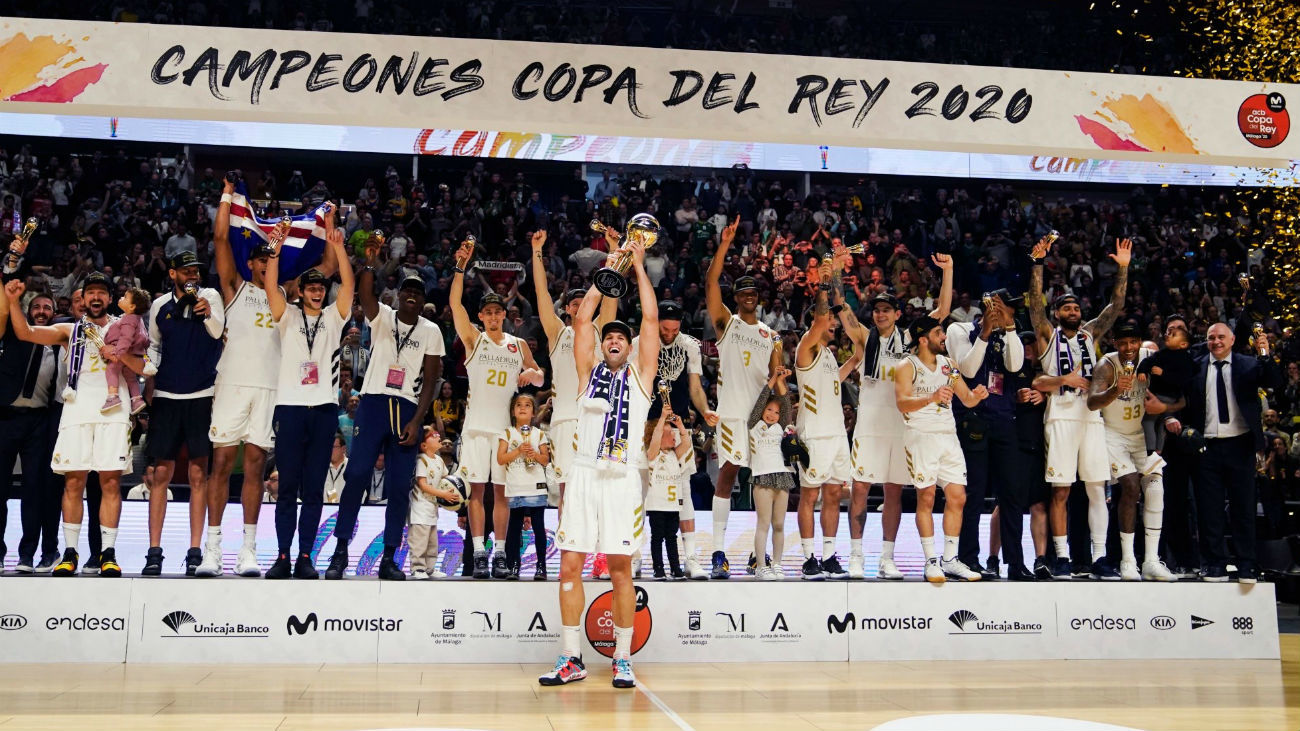68-95. El Real Madrid arrasa al Unicaja para ganar su 28ª Copa
