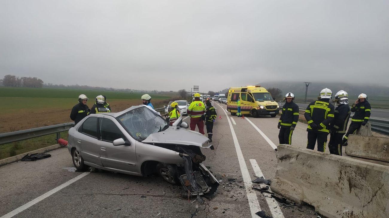 Accidente mortal en la M-203, cerca de San Fernando de Henares