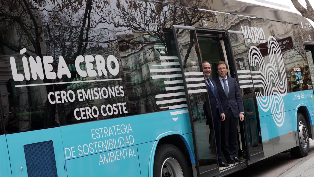 Madrid ya tiene una línea de bus cero emisiones gratuita y anuncia la segunda para el 3 de marzo