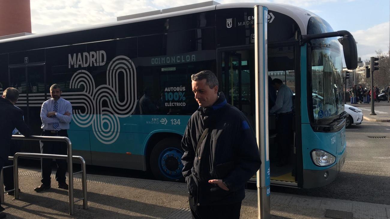 El primer viaje en el 'autobús cero' de Madrid