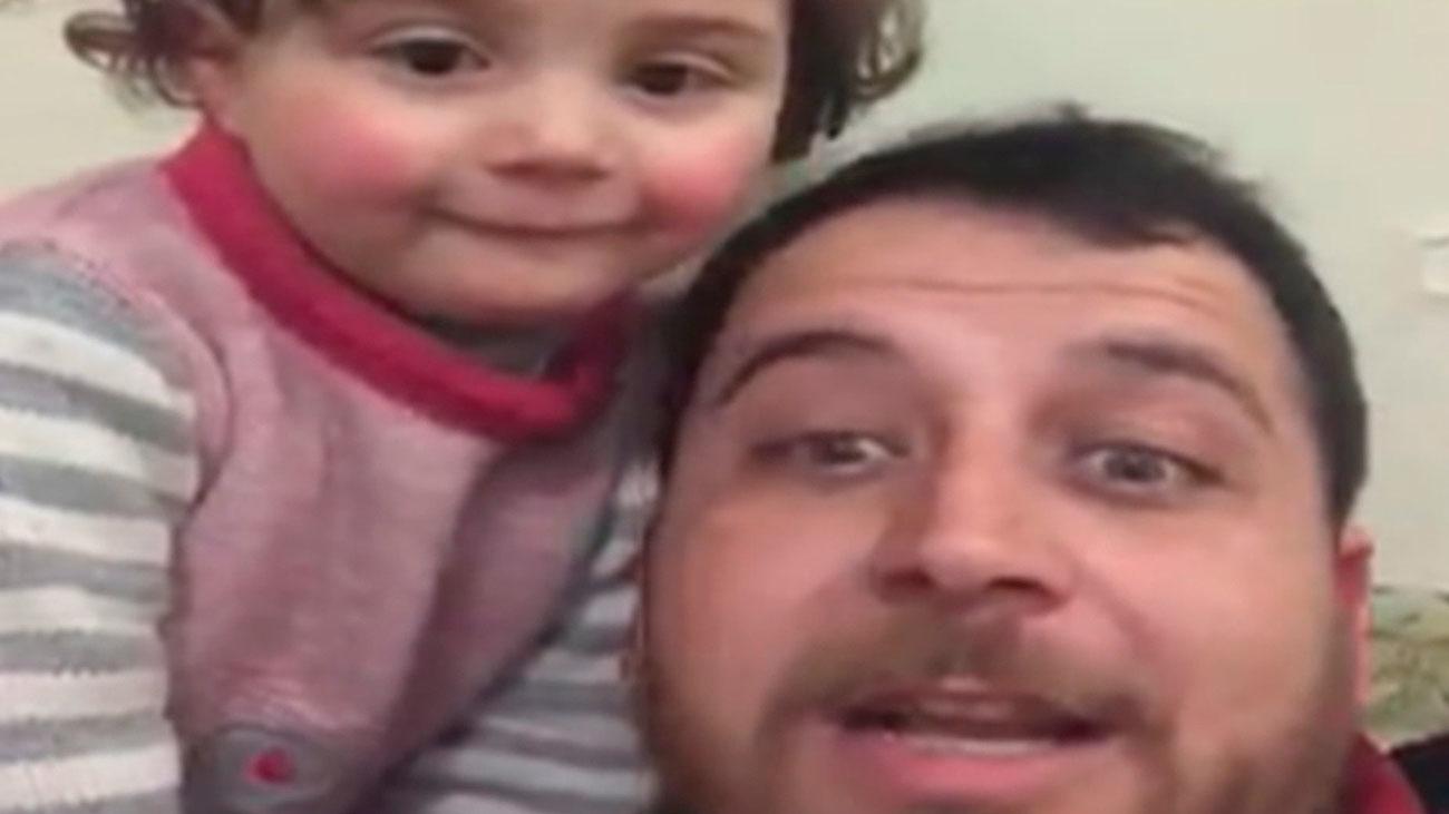¿Avión o bomba? El juego de un padre para hacer reír a su hija en plena guerra siria