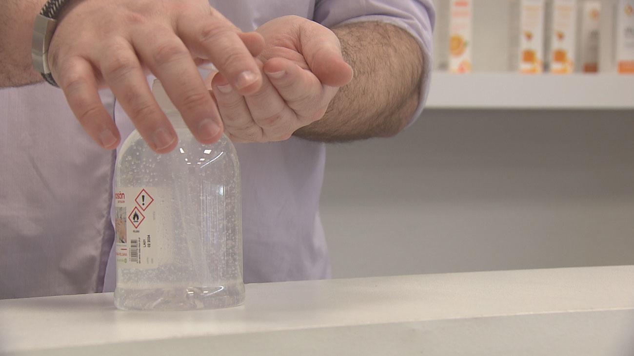 El coronavirus chino dispara la venta de geles desinfectantes