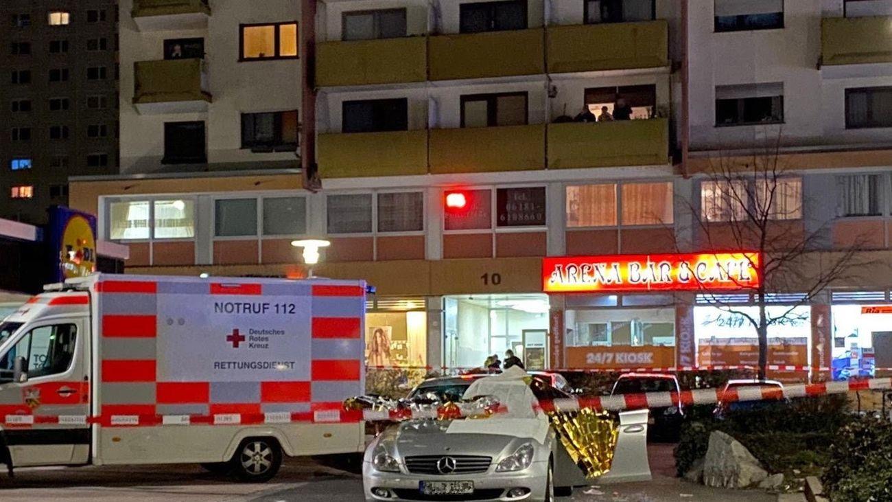 Uno de los locales atacados en Hanau
