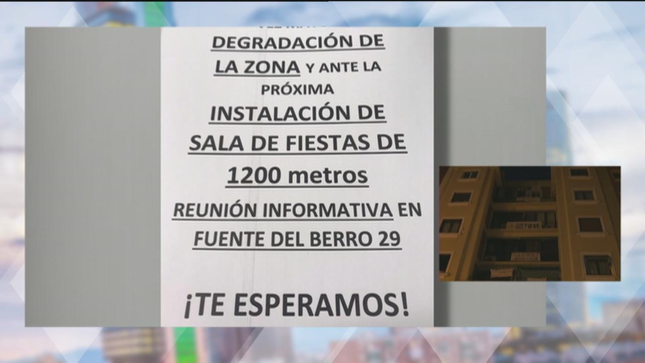 Vecinos de Fuente del Berro, en pie de guerra contra una discoteca que quieren abrir bajo sus casas