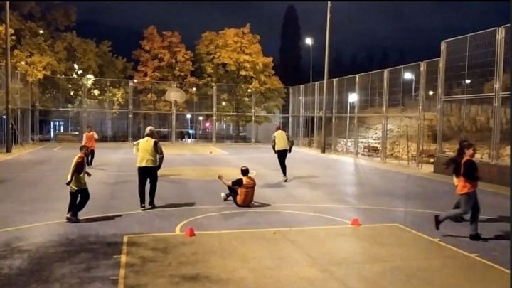 Refugiados en el fútbol en Vallecas
