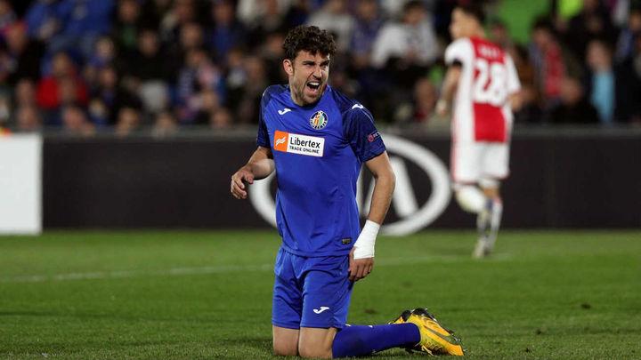 El delantero del Getafe Jaime Mata, dos partidos de suspensión