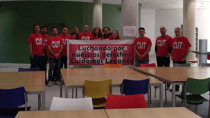 Trabajadores municipales de Leganés ponen fin a su encierro