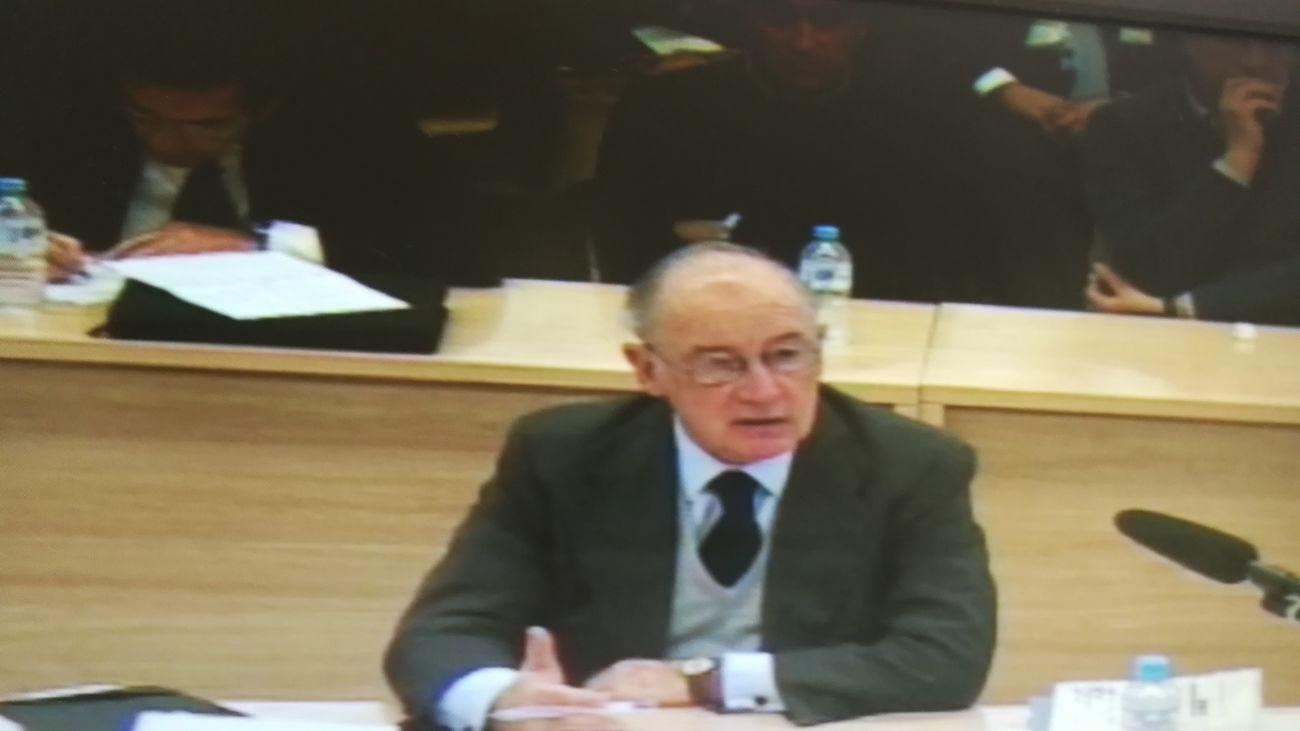 Rodrigo Rato durante el juicio por la salida a bolsa de Bankia