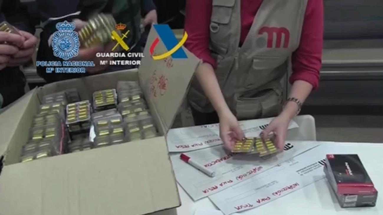 Detenidos 47 miembros de una red que distribuía falsas 'viagras' que podían provocar la muerte súbita