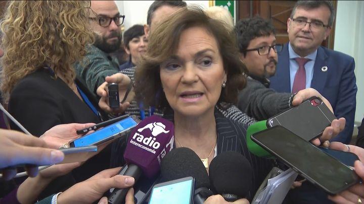 Carmen Calvo recibe el alta hospitalaria por el coronavirus