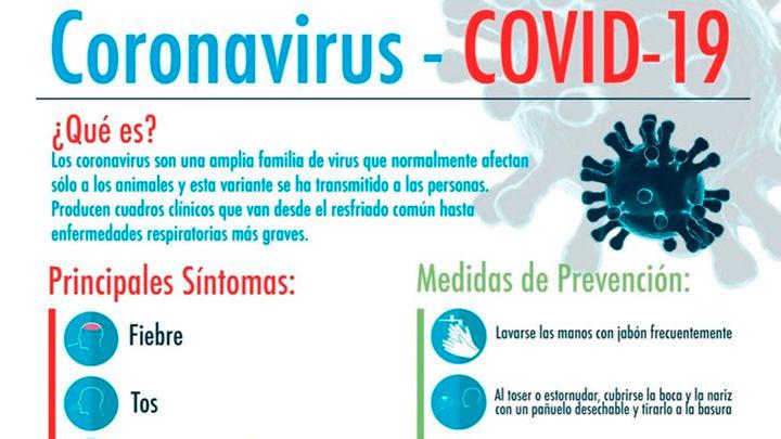 Folleto explicativo sobre el coronavirus de la Comunidad de Madrid