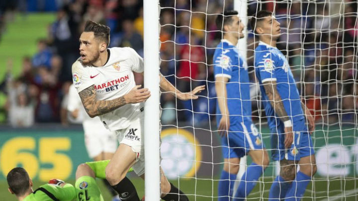 0-3. El Getafe pierde con un Sevilla superior