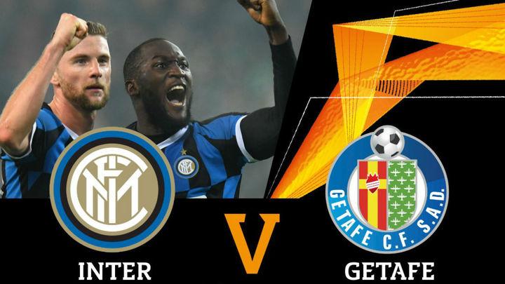 Inter de Milán-Getafe, en octavos de final de la Europa League