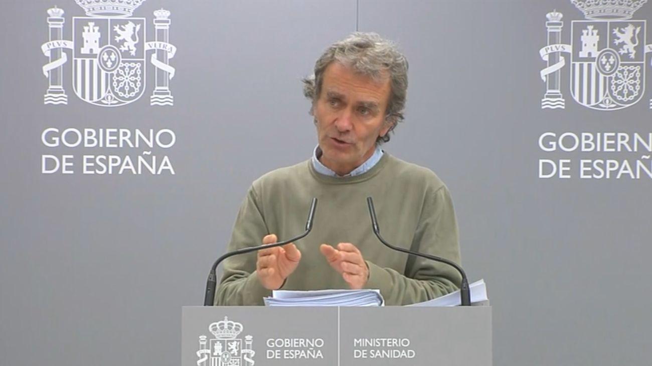 Fernando Simón en rueda de prensa en el Ministerio de Sanidad