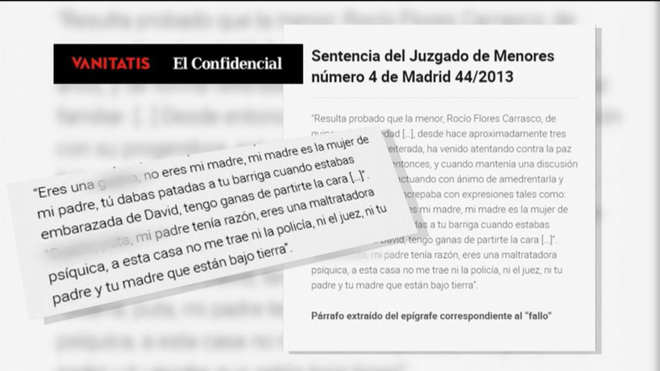"""Los insultos que recoge la sentencia de Rocío Flores por """"maltrato habitual"""" a su madre"""
