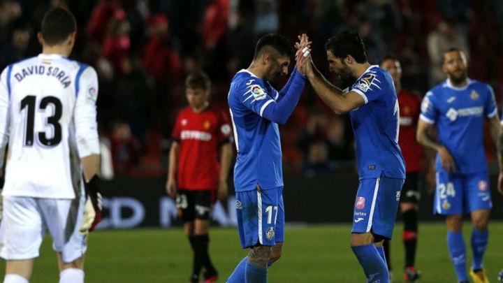 0-1. El Getafe gana al Mallorca y sigue mirando a la Champions