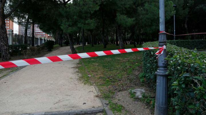 El Ayuntamiento de Móstoles cierra cinco parques por el fuerte viento