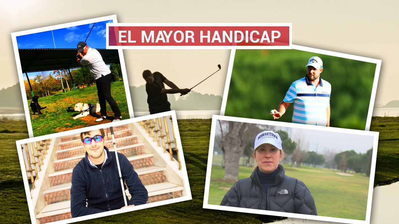 Marc, Alejandro y Raúl, tres invidentes apasionados del golf
