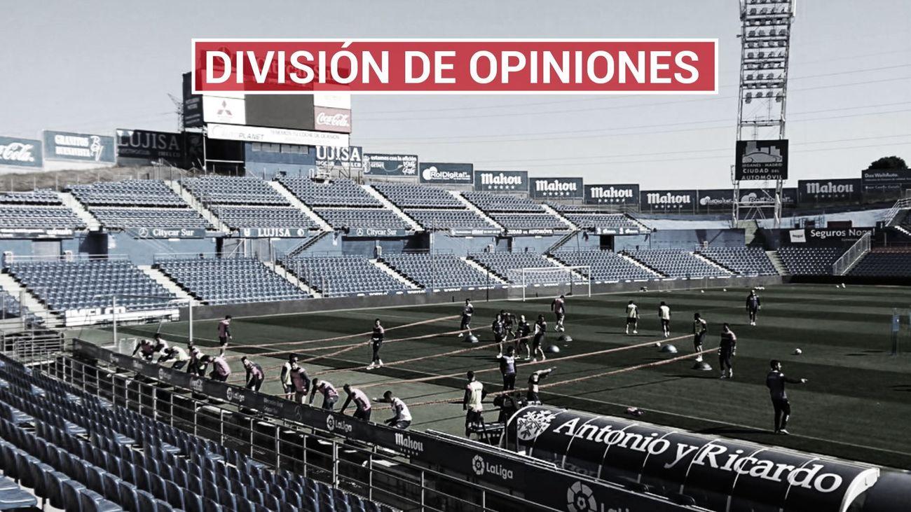 Las Peñas del Getafe muestran su malestar con el cierre del Coliseum ante el Inter