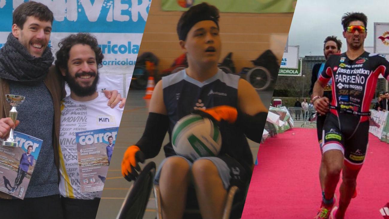Rugby en silla de ruedas, media maratón universitaria y duatlón