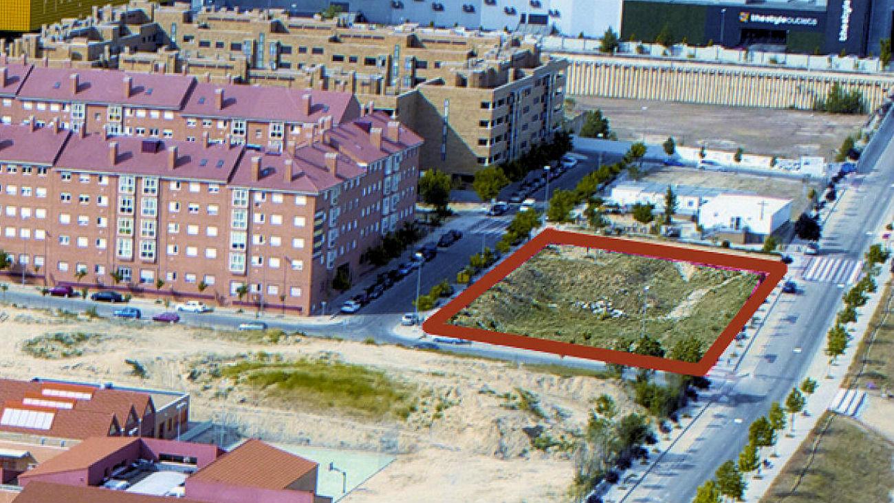 Parcela donde se construirá el Centro de Salud de Dehesa Vieja
