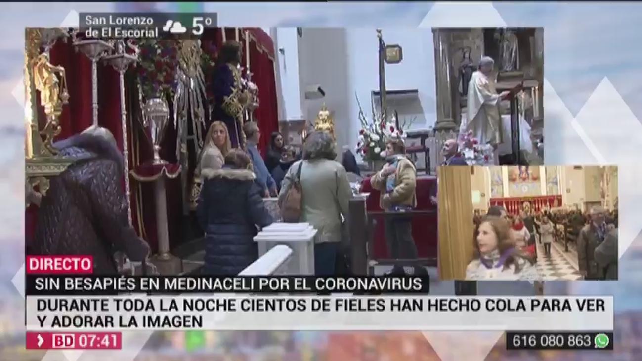 La basílica de Medinaceli abre sus puertas sin el besapies