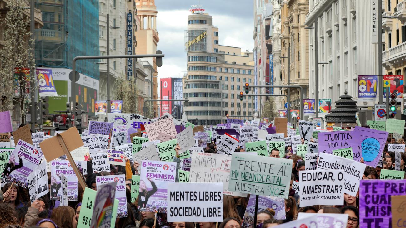 Comienzan los actos reivindicativos en Madrid por el Día de la Mujer