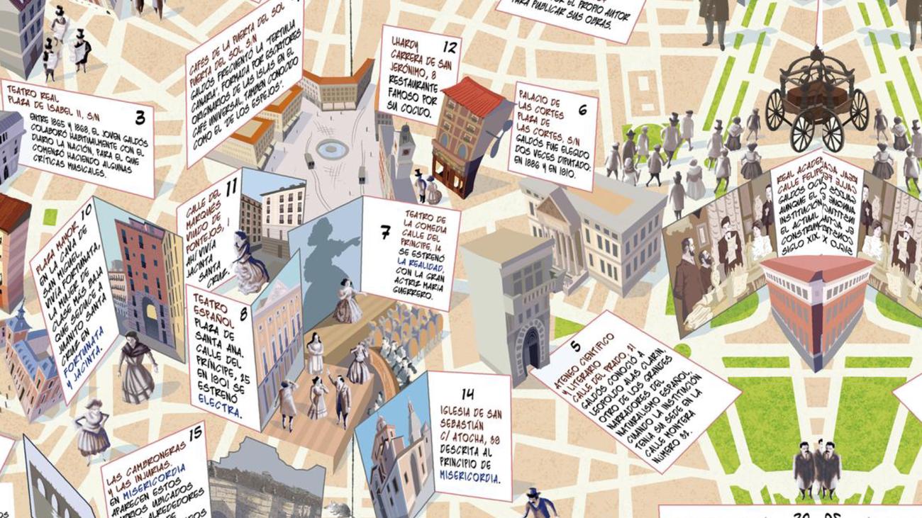 Inaugurada la primera ruta teatralizada del Madrid de Benito Pérez Galdós