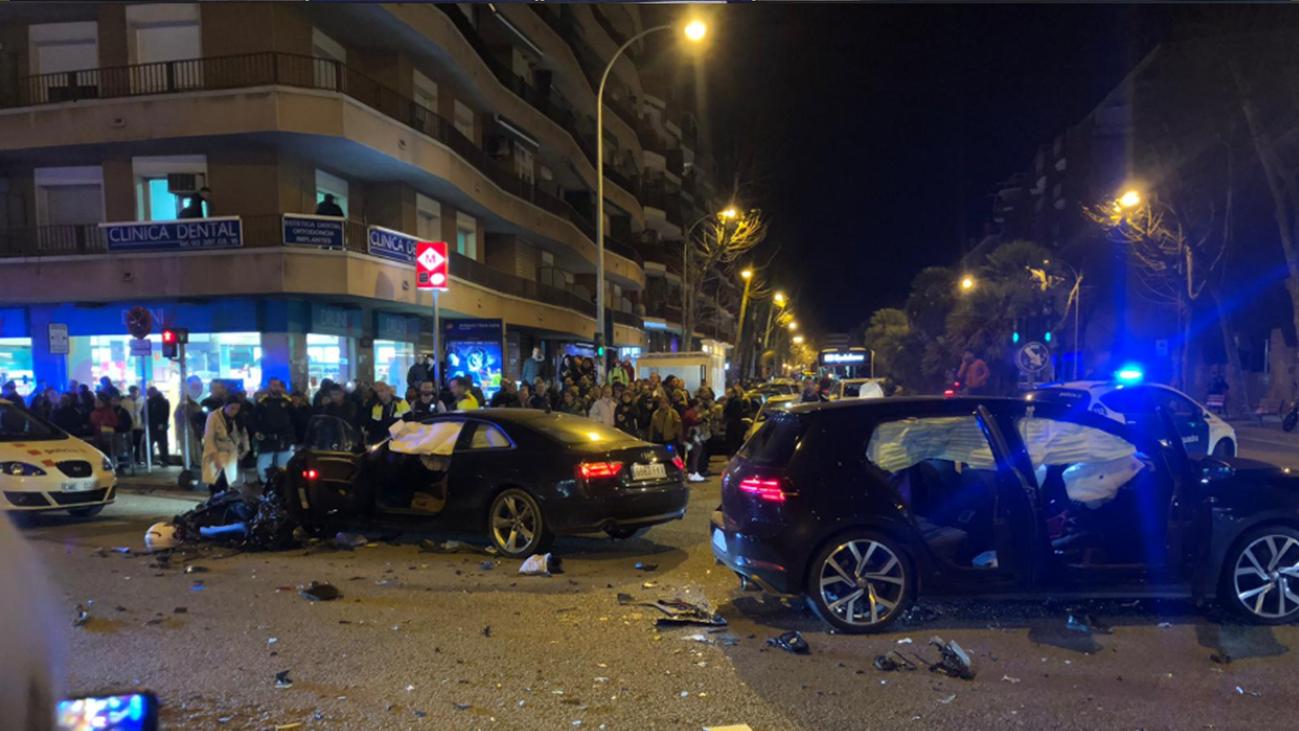 Un conductor ebrio mata a dos personas tras arrollar su moto en Badalona