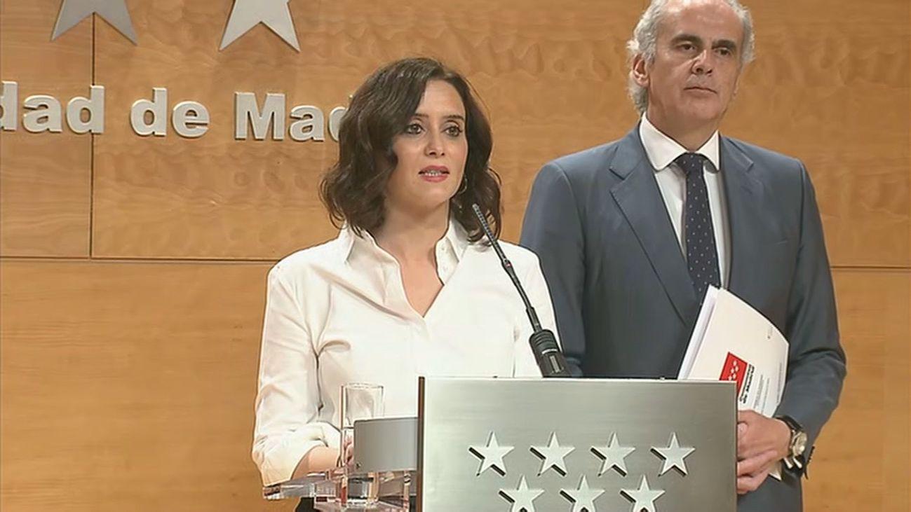 Isabel Díaz Ayuso, en rueda de prensa para anunciar nuevas medidas contra el coronavirus