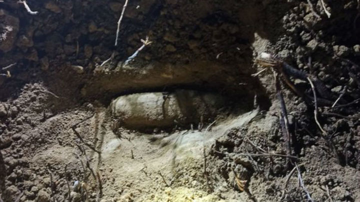 Localizan un proyectil de la Guerra Civil en el Parque Forestal de Vicálvaro