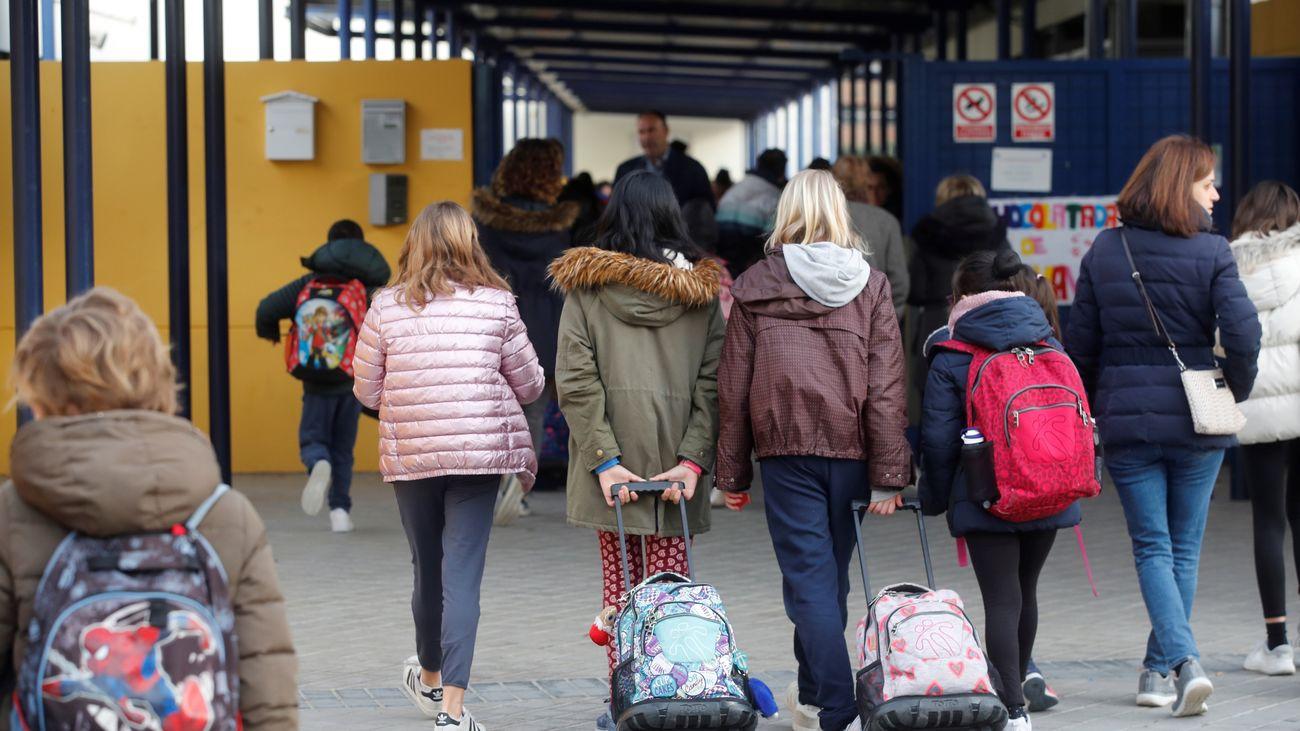 Imagen de un colegio en Madrid