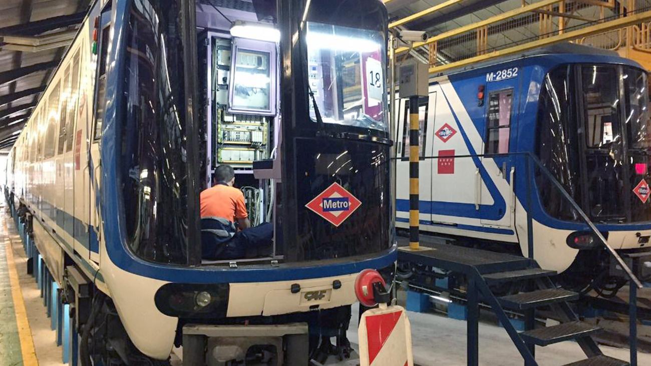 Mantenimiento de vagones de Metro de Madrid (archivo)