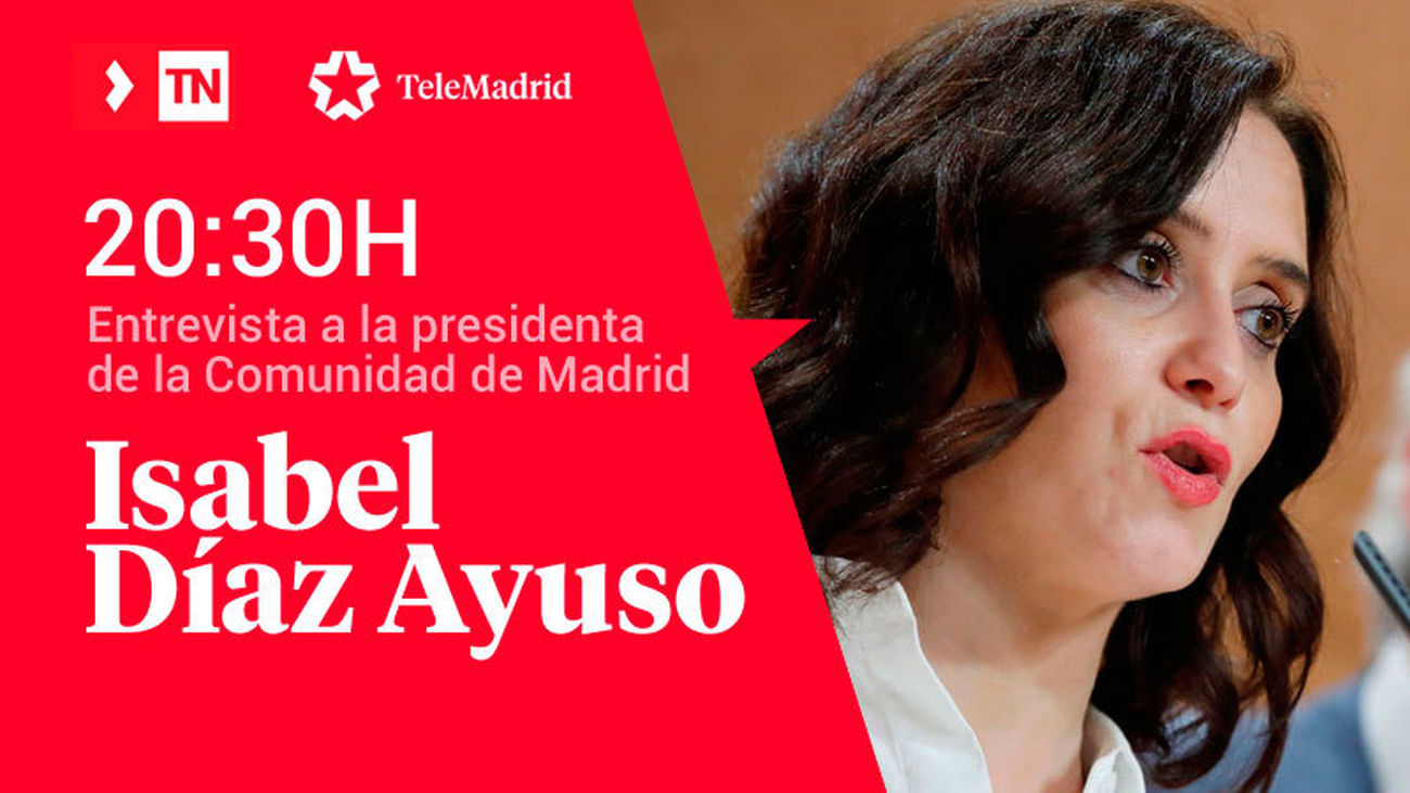 Entrevista a Isabel Díaz Ayuso en Telemadrid