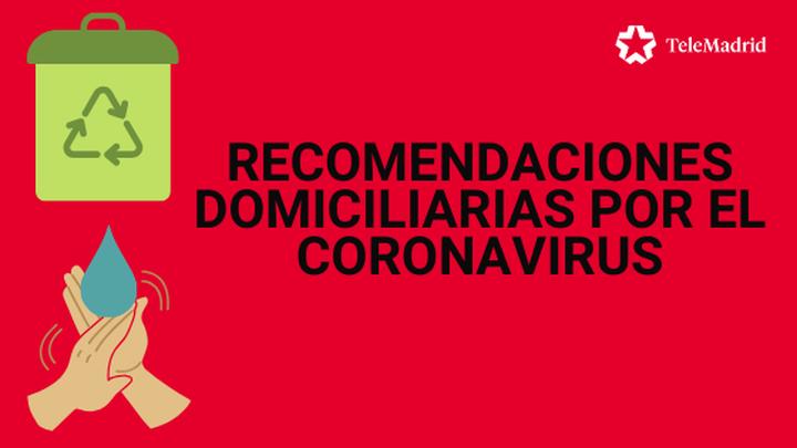 Recomendaciones domiciliarias en pacientes sospechosos de estar contagiados de coronavirus