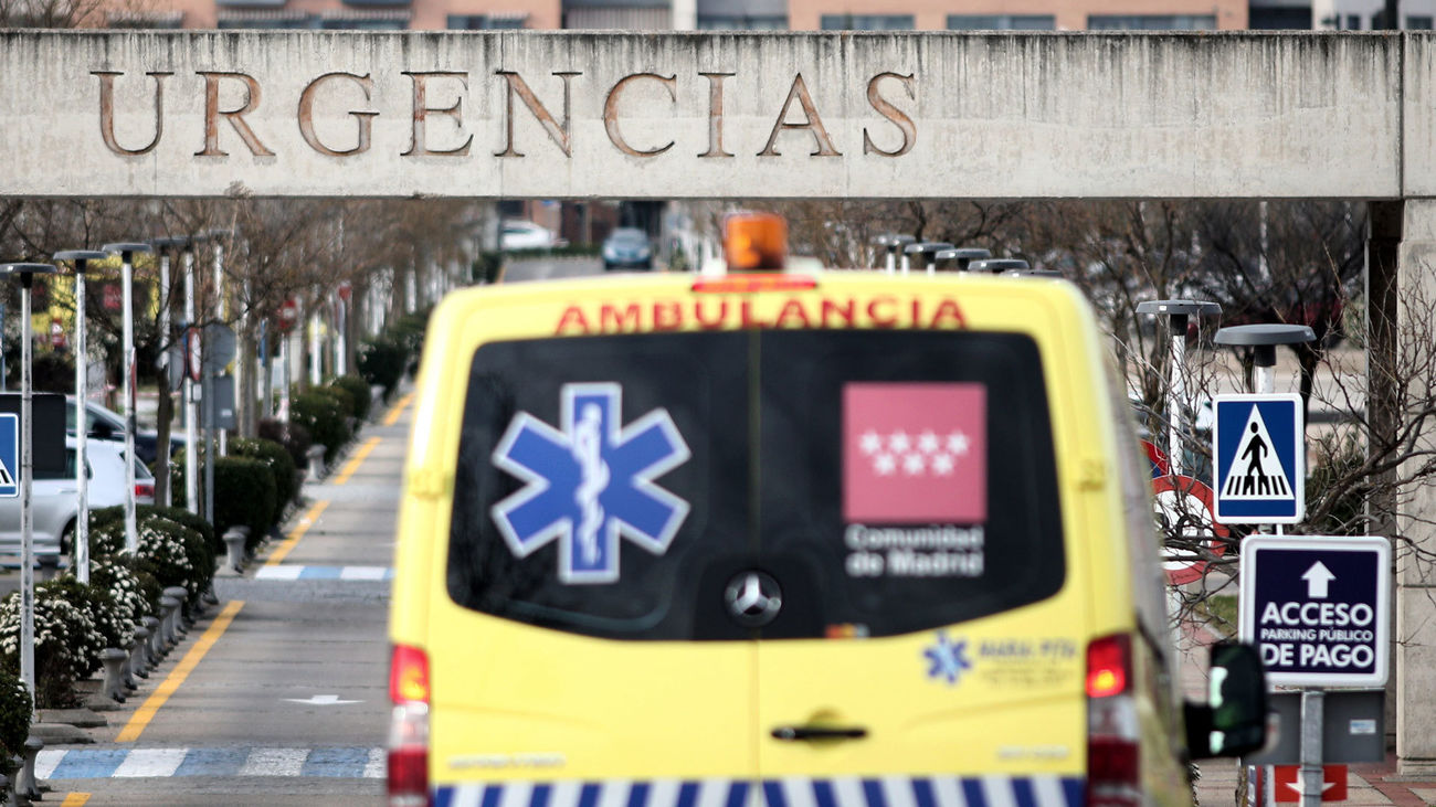 Acceso a urgencias del Hospital de Alcorcón