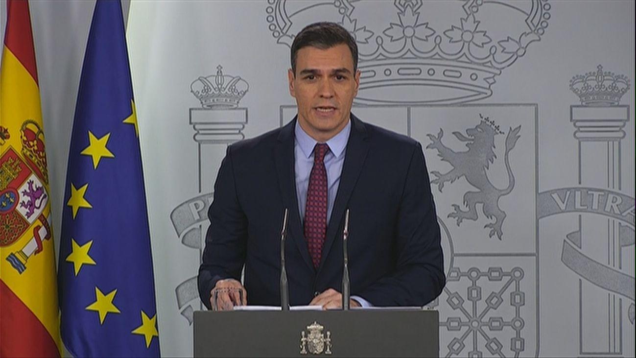 Pedro Sánchez anuncia nuevas medidas contra el coronavirus