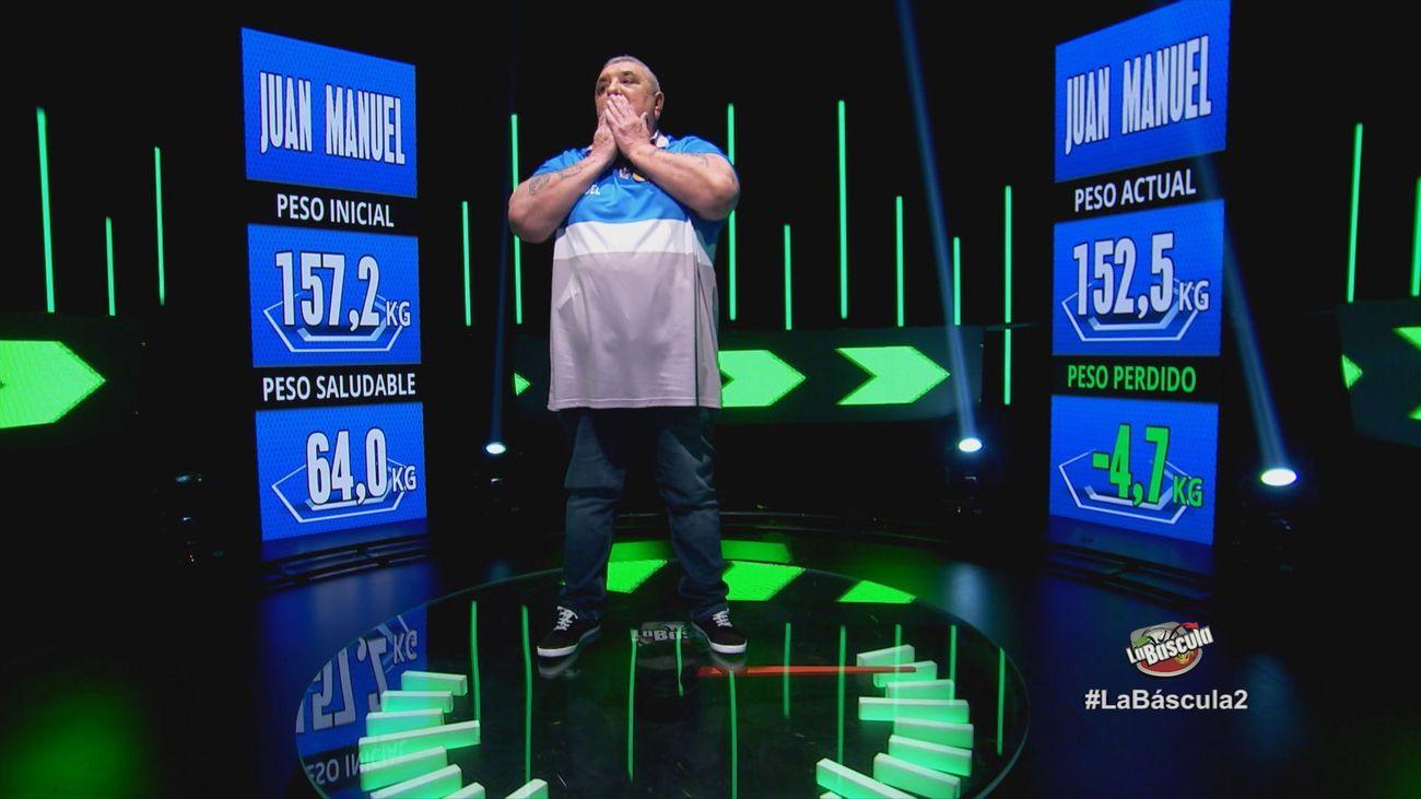 Juan Manuel pierde 4,7 kilos en la primera semana de programa