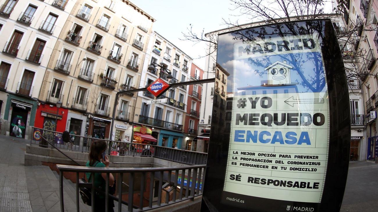 El Ayuntamiento de Madrid pide a los madrileños quedarse en casa ante el coronavirus