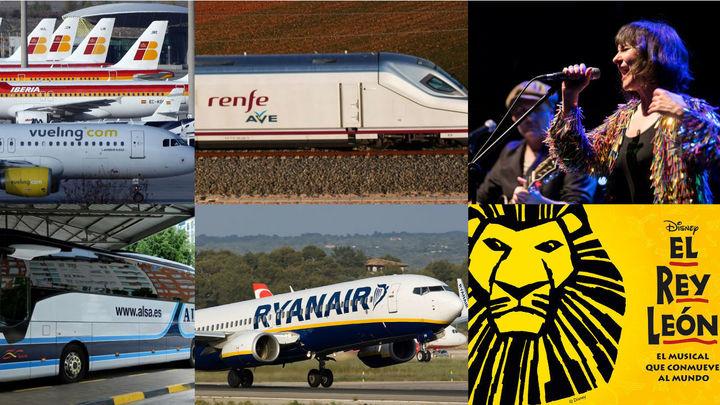 Así actúan las aerolíneas, Renfe, Alsa, teatros y conciertos frente al coronavirus: políticas de cancelación