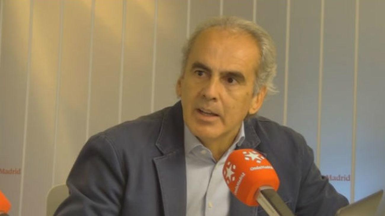 Enrique Ruiz Escudero, consejero de Sanidad, en Onda madrid