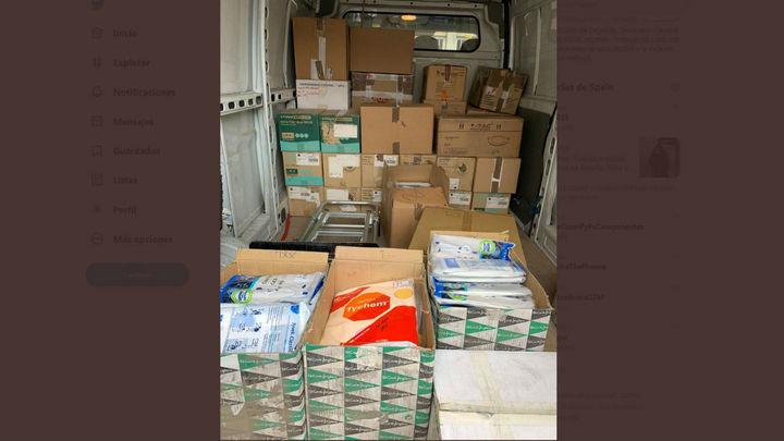 Leganésentrega al Hospital Severo Ochoa 60.000 pares de guantes, mascarillas, trajes de protección y gafas