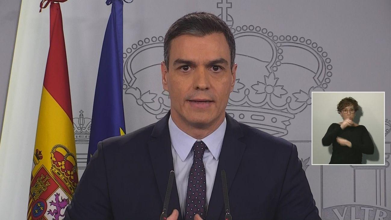 """Pedro Sánchez: """"Hemos establecido una moratoria en el pago de las hipotecas"""""""