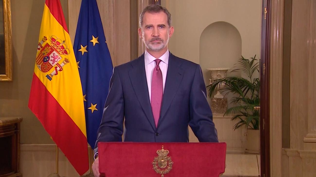 El Rey pideunidad, responsabilidad, civismo y humanidad ante la crisis del coronavirus