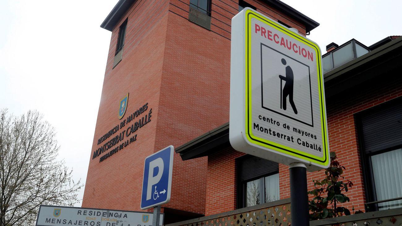Vista de la residencia Montserrat Caballé, gestionada por Mensajeros de la Paz en el barrio de Barajas de Madrid.