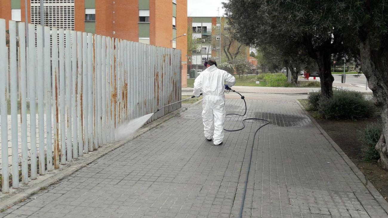 Limpieza en Aranjuez