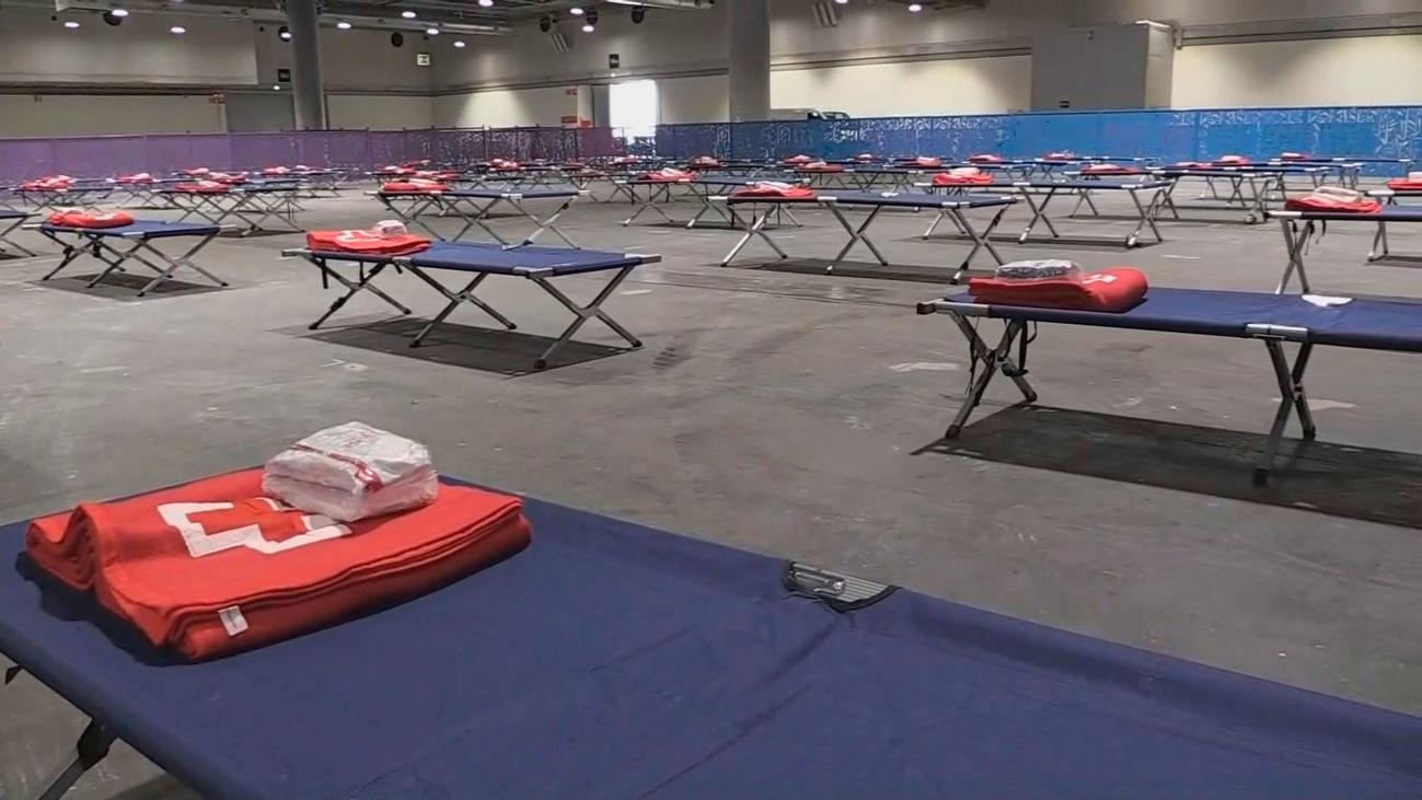 El pabellón de Ifema para personas sin techo funcionará a partir de este jueves