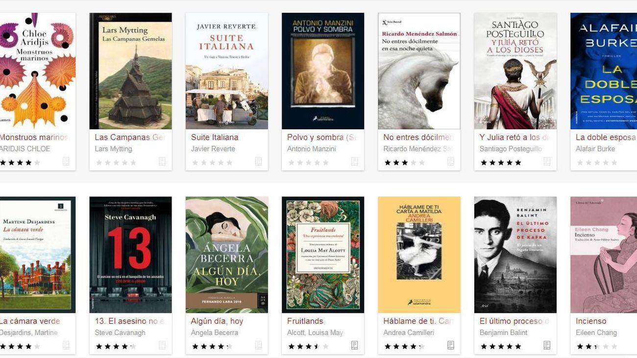 Libros disponibles en eBiblio