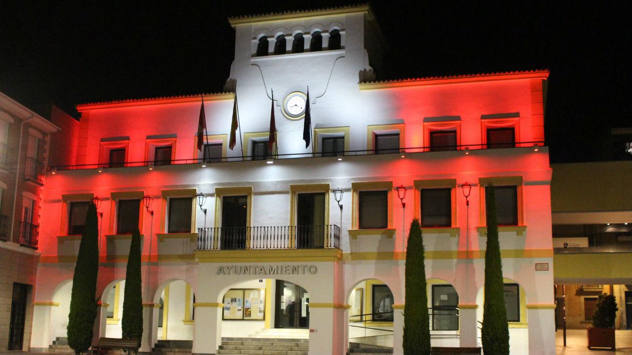 El Ayuntamiento de Sanse se ilumina